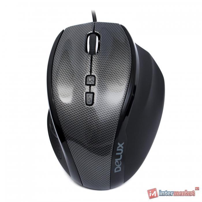 Мышь Delux DLM-535OUC, Gray-Black, USB
