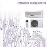 Установка кондиционера 24 сплит-системы настенного типа до 75 кв