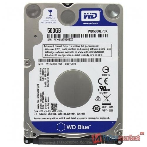 Жесткий диск Western Digital WD Blue Mobile 500 GB (WD5000LPCX)